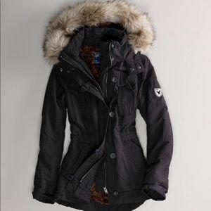 American black lined water resistant winter coat